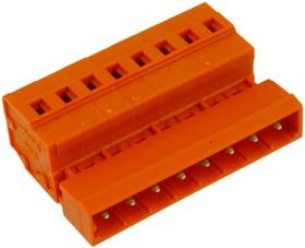 231-638, Conn PC Terminal Block M 8 POS 5.08mm Spring Clamp ST Panel Mount 15A Box