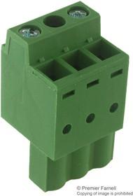 MC310-50803, TERMINAL BLOCK PLUGGABLE, 3 POSITION, 24-14AWG