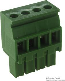 MC560-38104, TERMINAL BLOCK PLUGGABLE, 4 POSITION, 24-16AWG