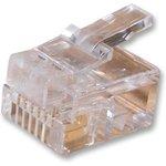 7001-6P6C, Модульный разъем, For Flat Cable, RJ12 Plug, 1 x 1 Port, 6P6C ...