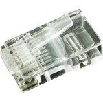 7001-8P8C-R, Модульный разъем, RJ45 Plug, 1 x 1 Port, 8P8C, Монтаж на Кабель