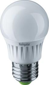 NLL-G45-7-230-4K-E27-DIMM (61381), Лампа светодиодная диммируемая (шар) 7Вт 220В (дневной)