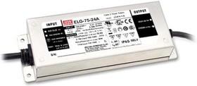 Фото 1/2 ELG-75-24A, AC/DC LED, 24В,3.15А,75.6Вт,IP65 блок питания для светодиодного освещения