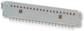 Фото 1/2 DF19G-8P-1H(54), Разъем типа провод-плата, угловой, 1 мм, 8 контакт(-ов), Гнездо, Серия DF19, Поверхностный Монтаж