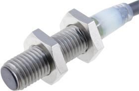 E2A-S08KS02-WP-B2 2M OMC, Индуктивный бесконтактный датчик, цилиндрический, E2A, M8, 2мм, PNP-NC, 12В до 24В, с проводами