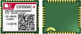 SIM800C (S2-108K0-Z1L1J, B08 BT_EAT 32Mb ESD), GSM/GPRS + Bluetooth модуль для M2M приложений