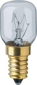 Фото 1/2 NI-T25-15-230-E14-CL (61207), Лампа накаливания 15Вт,Е14 для духовых шкафов