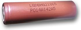 LGDBHG21865 (18650), Аккумулятор Li-ion, 3000mAh, 20А, 3.7V высокотоковый (18х65мм)