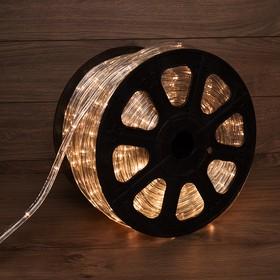 Фото 1/3 121-326-4, Дюралайт LED, свечение с динамикой (3W) - ТЕПЛЫЙ БЕЛЫЙ, 24 LED/м, бухта 100м (за 1 м)