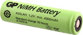 GP 450LAH(4/3А), Аккумулятор никель-металлгидридный NiMH 4300mAh (1шт) 1.2В