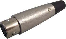 SVP556H, Аудио разъем XLR, 3 контакт(-ов), Гнездо, Монтаж на Кабель, Контакты с Покрытием из Серебра