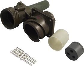 CA3100E16S-5PBF80-05, Круглый разъем, CA-B Series, Настенное Гнездо, 3 контакт(-ов), Обжимной Контакт