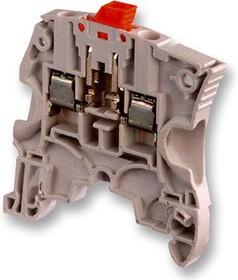 1SNK505310R0000, Клеммная колодка на DIN рейку, 2 вывод(-ов), 24 AWG, 10 AWG, 4 мм², Винт, 25 А