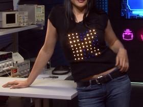 Arduino проект - Светодиодная футболка, Анимация на одежде. Neopixel - SK6812