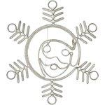 """Фото 2/3 501-339, Фигура """"Снежинка с Дедом Морозом"""" размер 107*95см, 14м дюралайт"""