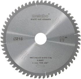 Круг пильный твердосплавный METABO 628064000 HW/CT 305x30.56мм WZ 5n