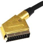 17-1115-1, Шнур SCART - SCART (21 Pin), длина 3 метра (GOLD-металл GOLD)