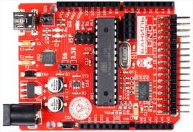 Фото 1/2 Ваниль, Arduino Uno, ATmega328P-PU, +16 цифровых входов - выходов