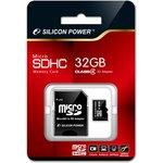 Карта памяти microSDHC SILICON POWER 32 ГБ, Class 4 ...