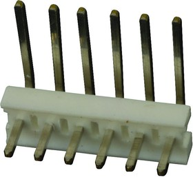 Фото 1/2 640453-6, WIRE-BOARD CONNECTOR HEADER, 6 POSITION, 0.1IN