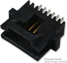 5-104071-8, WIRE-BOARD CONNECTOR HEADER 6 POSITION, 0.05IN
