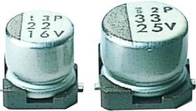 UWF1C100MCL1GB, Cap Aluminum Lytic 10uF 16V 20% (4 X 5.4mm) SMD 50mA 1000h 105°C T/R