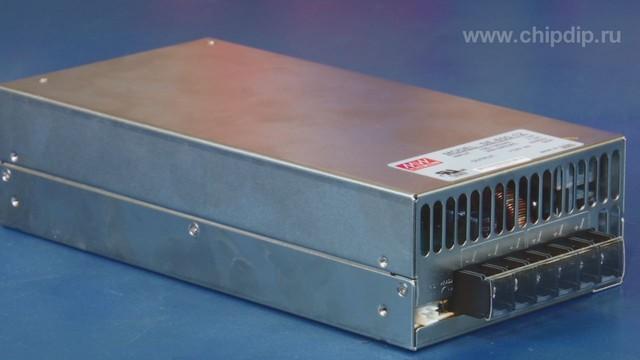 Импульсный источник питания закрытого типа SE-600-12 с регулировкой входного напряжения компании Mean Well идеально...