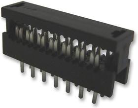 1565522, Разъем типа провод-плата, проходной, 2.54 мм, 10 контакт(-ов), Штекер, Сквозное Отверстие