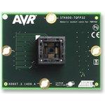 Фото 2/4 ATSTK600-TQFP32 (ATSTK600-SC10), Дочерний модуль с ZIF-сокетом под корпус TQFP32 для ATSTK600