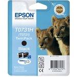 Двойная упаковка картриджей EPSON T0731H (T0721) черный ...