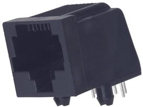 5554517-1, CAT3 RJ45 MODULAR JACK, 8 POSITION, 1 PORT