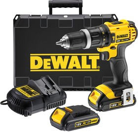 Дрель-шуруповерт DEWALT DCD785C2-QW 18.0в xr функция удара 350Вт 23/60нм 0-600/2000об/мин