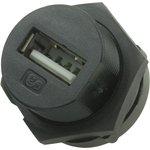 2UB3001-W05100, Герметичный разъем USB, USB Типа A, USB 2.0 ...