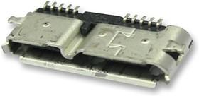 Фото 1/2 692622030100, Разъем USB, Micro USB Типа B, USB 3.0, Гнездо, 10 вывод(-ов), Поверхностный Монтаж, Прямой Угол