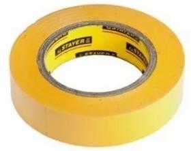 """Фото 1/2 12292-Y-15-10, STAYER Изолента """"PROFI"""" желтая ПВХ, на карточке, 15 мм х 10 м х 0,18мм"""