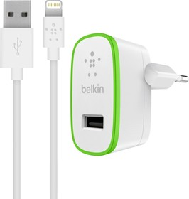 F8J125vf04-WHT, СЗУ для iPod/iPhone/iPad Boost Up Home Charger + Cable (includes lightning cable)