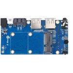 Фото 2/4 Orange Pi Zero NAS Expansion board, Плата расширения для Orange Pi Zero добавит интерфейсы: SATA, mSATA, 2хUSB, 3,5 мм AV (TBC)