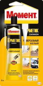 Герметик Момент силикон универсальный (белый) 85мл