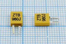 Керамические резонаторы 960кГц с двумя выводами, пкер 960 \C05x2x06P2\\3000\ \ZTB960J\2P-1