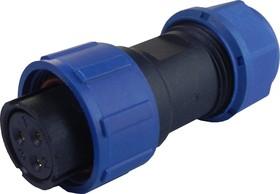 OL1710/S3, Разъем герметичный 3pin розетка на кабель