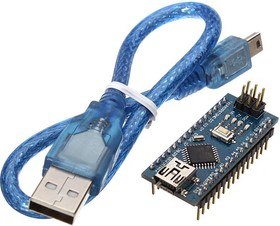 Nano V3.0 (CH340G) with USB cable, Программируемый контроллер на базе ATmega328, клон Arduino Nano V3.0