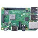 Raspberry Pi 3 Model B+, Одноплатный компьютер на базе процессора Broadcom BCM2837B0, Wi-Fi, Bluetooth, PoE