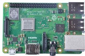 Фото 1/5 Raspberry Pi 3 Model B+, Одноплатный компьютер на базе процессора Broadcom BCM2837B0, Wi-Fi, Bluetooth, PoE