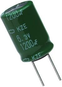 Фото 1/2 ECAP (К50-35), 10 мкФ, 50 В, 105 °, EKZE500ELL100ME07D Low impedance, Конденсатор электролитический алюминиевый