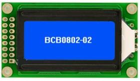 BCB0802-02, ЖКИ 8х2 символьный англо-русский с подсветкой