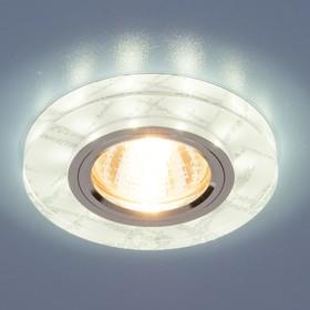 Фото 1/4 8371 MR16 WH/SL / Светильник встраиваемый белый/серебро