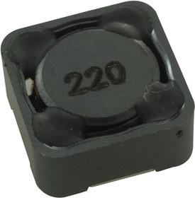 Фото 1/4 SRR1260-220M, Силовой Индуктор (SMD), 22 мкГн, 4 А, Экранированный, 3.7 А, Серия SRR1260, 12.5мм x 12.5мм x 6мм