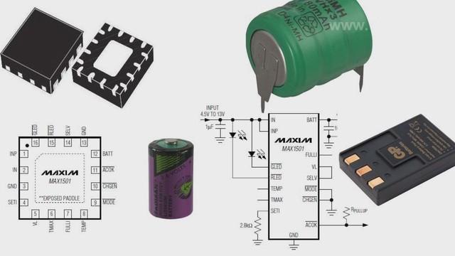 заряда батарей MAX1501