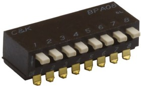BPA04SBR, SWITCH DIP SMD 4 POSITION SIDE ACTUATED