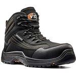 V1501.01/11, Caiman Black Composite Toe Safety Shoes, UK 11